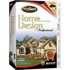 Punch Home & Landscape Design ProfessionalNexgen Technology V2 3d  *New,Sealed*