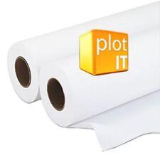 2 ROTOLI 420mm x 45 milioni 90gm CAD Inkjet PLOTTER carta per DesignJet, Canon o EPSON