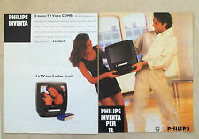 E685 - Advertising Pubblicità -1996- PHILIPS NUOVO TELEVISORE VIDEO COMBI