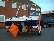 Floatem Poles Boat trailer guide pole docking system with yellow cushions