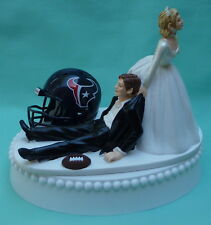 Wedding Cake Topper Houston Texans Football Themed Funny TX Sports Fans Humorous