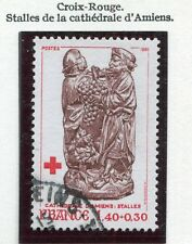 TIMBRE FRANCE OBLITERE N° 2117 CROIX ROUGE / CATHEDRALE D'AMIENS