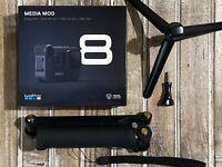 Factory Sealed GoPro Media Mod For Go Pro HERO 8 AJFMD-001+Gemi 3-Way Arm+Tripod