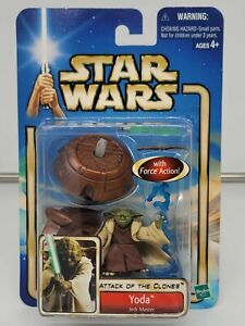 Star Wars Attack of the Clones YODA Jedi Master Action Figure Sealed