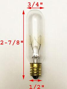 TUNGSRAM Light Bulb 15 Watts T6 Incandescent Candelabra Base E12 15W 145V Clear