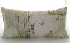 Voyage ENCHANTED FOREST stag pheasant rabbit fabric feather cushion cover  24 12