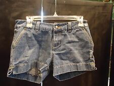 JUNIOR WOMENS DISTRESS MINI DENIM  SHORTS SIZE 5 / SO CUTE