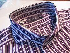 Ralph Lauren Purple Label 39 M 15 1/2 ABSOLUT AUSGEFALLEN GESTREIFT 300 €  2335