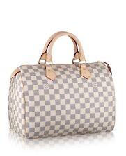 100% Autentico Louis Vuitton Speedy 30 Damier Azur tela