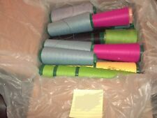 Fabric lot of thread various color 69 bobbin pink,blue,yellow, green