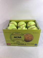 Lot Of 12 Rawlings Official Ncaa Recreational Softballs Nc12Bb New