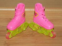 BARBIE PINK ROLLER BLADES SKATES FIT FASHIONISTA MY SCENE FASHION FEVER AVE DOLL