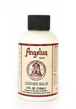 Angelus Smooth Leather Nourishing Balm Conditioner Preserver w/Natural Waxes 4oz