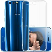 Clear Slim Gel Case and Glass Screen Protector for Huawei Honor 9
