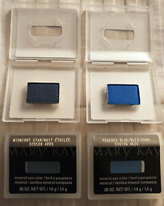 MARY KAY Mineral Eye Color MIDNIGHT STAR or PEACOCK BLUE - Full Size 1.4 g NEW!