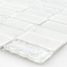 Muster selbstklebende Mosaik Naturstein Glas Mix WEISS poliert