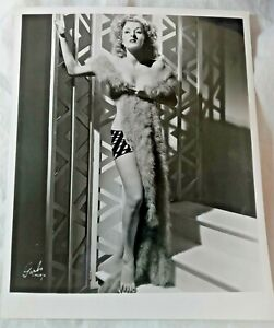 PAT AMBER HALLADAY Burlesque Star Dancer by Garbo of ORIGINAL PHOTO 1950 Pin Up