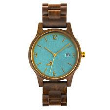 Opis UR-U1: Black Sandalwood Unisex Wooden Wrist Watch with embossed dial-face