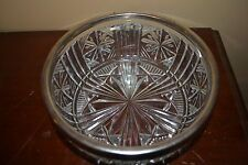 "Vintage Crystal Bowl (with Silverplate Trim) Made in England ""Stars and Bars"""