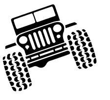 2 ADESIVI - Jeep 10x10 cm - Fuoristrada Moto Scooter Auto - Tuning