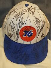 RARE NASCAR DREAM! 20+ Drivers Signed 76 Hat-Earnhardt Jr, Gordon and more. VTG