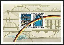 Germany 1990 MNH - 1st Anniv Opening Berlin Wall Minisheet Block 22 MS2332