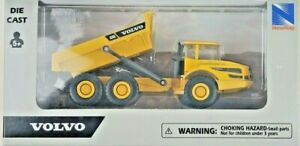 "New Ray 32103 5"" 1/64th Scale Volvo A256 Construction Dump Truck"