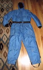 VINTAGE BLUE POLARIS SNOWMOBILE SNOWSUIT SNOW SUIT JACKET COAT PANTS ONE PIECE M