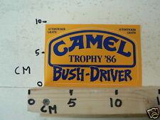 STICKER,DECAL CAMEL TROPHY 86 BUSH-DRIVER