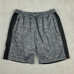 Burnside Men's Shorts XL Stretch Drawstring Cotton Blend Gray Black Casual