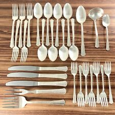 Wm Rogers 1940 TREASURE Silverplate Flatware & Serving Pieces Lot of 28