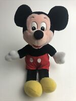 VINTAGE Official Disneyland Walt Disney World Mickey Mouse Plush Stuffed Toy 10""