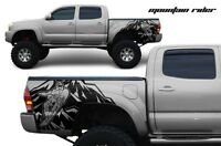 Vinyl Rear Decal Mountain Rider Wrap Kit for Toyota Tacoma 2005-2015 Matte Black