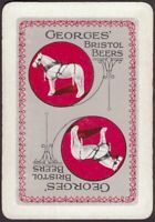 Playing Cards Single Card Old Wide GEORGES Brewery BEER Advertising Art HORSE D