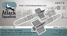 Escuadrón 1/48 Tiny Tim cohetes (2 un.) # 48010