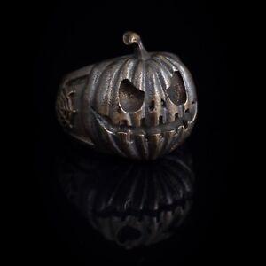 Halloween Pumpkin Ring, bronze, handmade