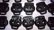 Serre cordon 2 trous en plastique noir 10 pcs 5 mm autobloqueurs arrêt cordon