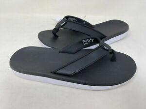 NEW! Nike Women's Bella Kai Thong Flip Flops Blk/Slv/Wht #AO3622-002 127D tz