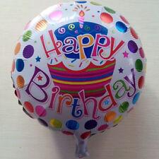 Happy Birthday Aluminum Foil Balloons Round Birthday Wedding Party Decoratio@eG