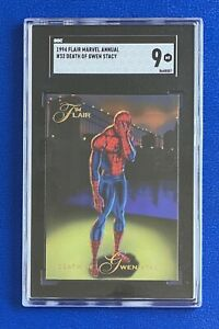 1994 Flair Marvel Universe #32 DEATH OF GWEN STACY SGC Like PSA 9 MINT