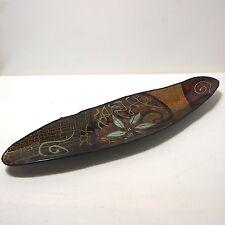 Bananenboot Schale Glasschale Snackschale  ca. 46 x 13 cm vermutlich 70er Jahre