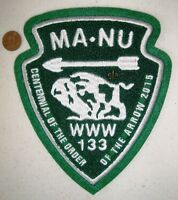 OA MA NU 133 LAST FRONTIER FLAP 100TH ANN NOAC 2015 BISON CHENILLE JACKET PATCH