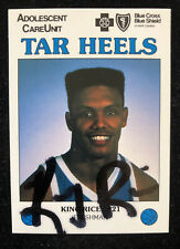 KING RICE 1988 SPORTS MARKETING AUTOGRAPHED SIGNED AUTO CARD TAR HEELS  RARE
