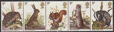 GB MNH STAMP SET 1977 British Wildlife Strip SG 1039-1043 UMM