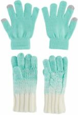 Girls 2 Pack Magic Gloves by A 22 Accessories, Color: Mint Ombre