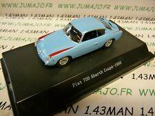 Sta2 car 1/43 starline models: fiat 750 abarth coupe 1956 azure blue