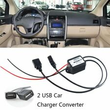 Portable Car Motorcycle Charger Dual USB Charger 12V-5V Power Converter Boat New