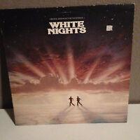 WHITE NIGHTS Movie Soundtrack - Vinyl Record LP- VG+ Phil Collins, Robert Plant