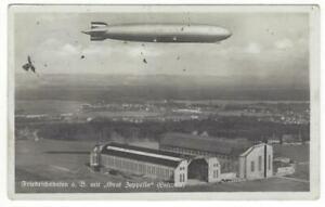 """Zeppelinpost Grußkarte der Abteilung """"Luftschiffbau Zeppelin"""" mit Luftbild!"""