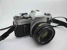 Canon AE-1 35mm SLR Film Camera with Canon 50mm f/1.8 FD Lens - WORKING PERFECT!